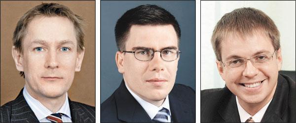 На фото (слева направо): Мартин Рикс, Денис Черников, Борис Федосимов