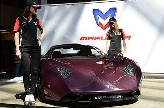 Высокий интерес посетителей был прикован к отечественному суперкару Marussia. Фото: KP.RU