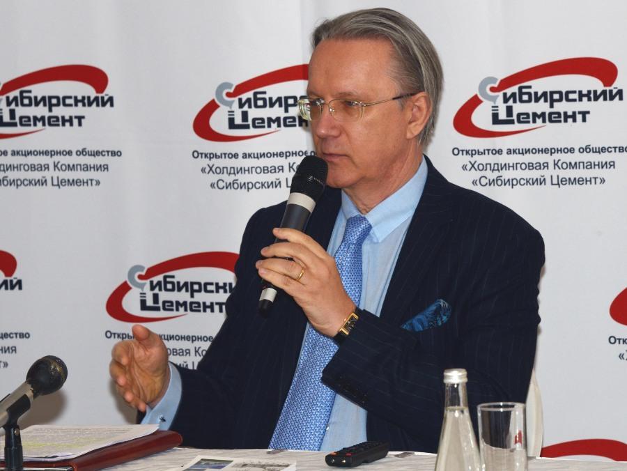 Президент  ОАО «ХК «Сибирский цемент» Георг Клегер