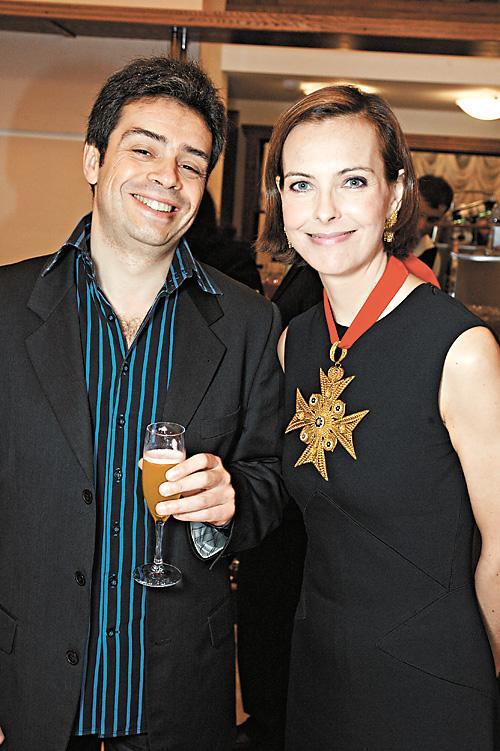 Жоэль Шапрон и актриса Кароль Буке во время кинофестиваля в Новосибирске