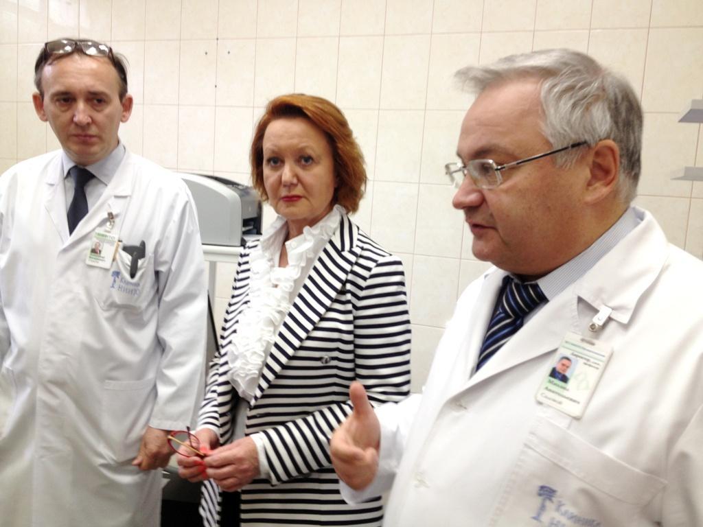 На фото Ольга Кравченко с коллегами