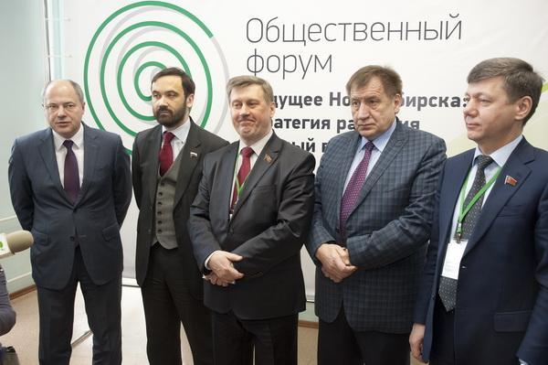 На фото (слева направо): кандидаты в мэры Новосибирска — Андрей Ксензов