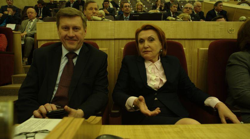 Анатолий Локоть и Надежда Болтенко. Фото Андрея Баулина