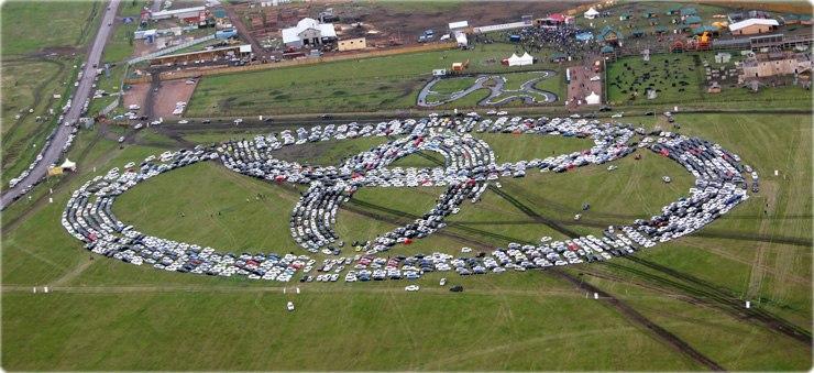 Миниатюра для: Тойота Центр Красноярск установил мировой рекорд Гиннесса