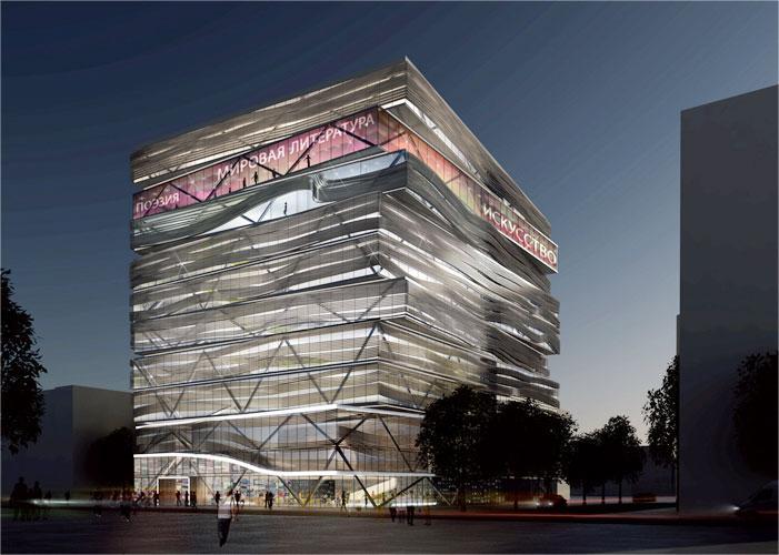 Эскизный проект нового здания НГОНБ компании Tilke Ingenieure
