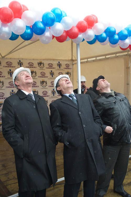 Слева направо: председатель Законодательного собрания Новосибирской области Иван Мороз, и. о. губернатора НСО Владимир Городецкий, избранный мэр Новосибирска Анатолий Локоть