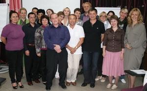 Михаил Колонтай с участниками семинара