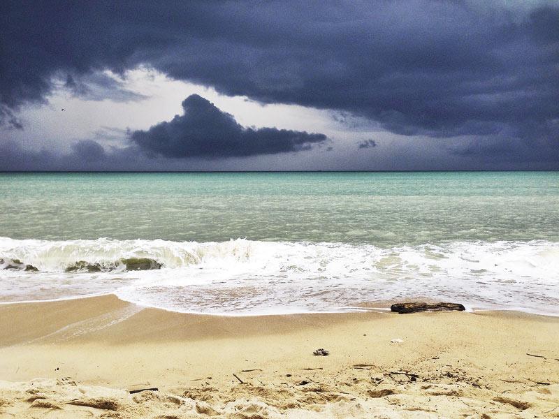Приближающийся шторм на Самуи