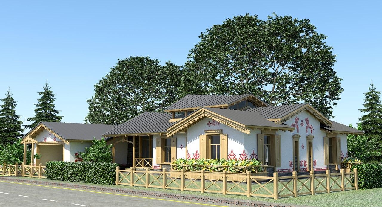 Пример модульного дома в экопоселке «Мира»