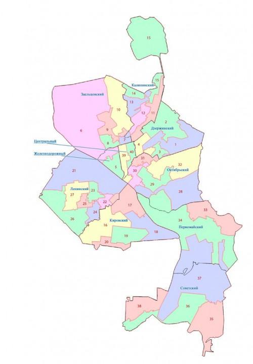 Новая карта городских избирательных округов Новосибирска