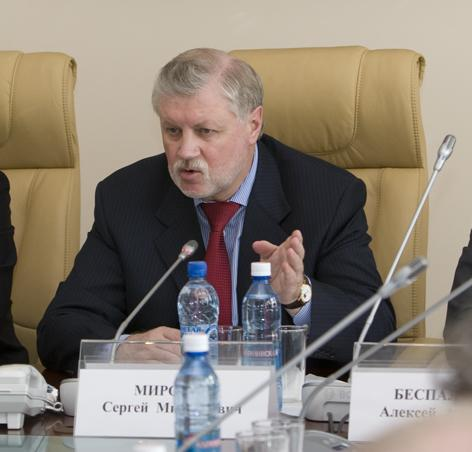Миниатюра для: Сергей Миронов будет баллотироваться в депутаты ЗС НСО