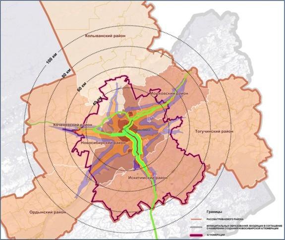Новосибирская агломерация будет состоять из 12 муниципальных образований. Фото: nsk.dk.ru