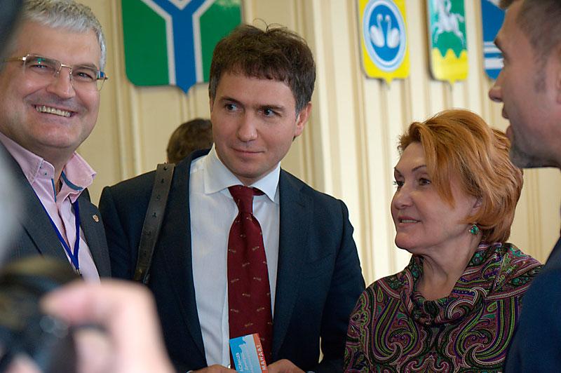 Вячеслав Илюхин, Дмитрий Асанцев, Надежда Болтенко (слева-направо)