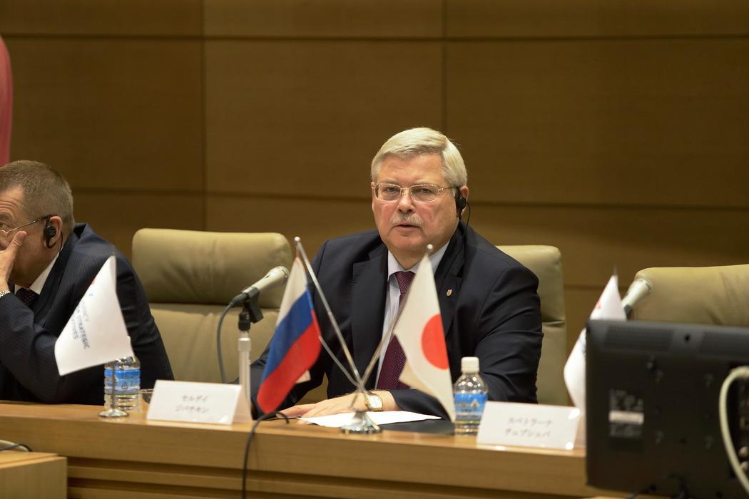 Сергей Жвачкин рассказал японцам о сырьевых и интеллектуальных ресурсах Томской области.