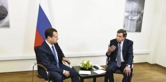 Дмитрий Медведев и Владимир Городецкий