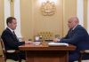 В ходе рабочей беседы врио главы Омской области Виктор Назаров (справа) обсудил с Дмитрием Медведевым самые важные вопросы омской экономики.