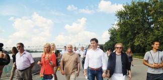 набережная Оби в Новосибирске