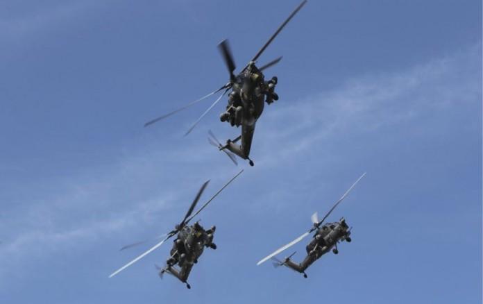 ВТБ в этом году традиционно стал генеральным спонсором авиасалона МАКС, который впервые пройдёт без участия изображённых на снимке Ми-28.