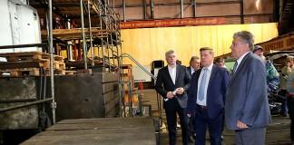 Мэр Анатолий Локоть побывал на новосибирском заводе «Тяжстанкогидропресс»