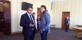 Андрей Шимкив с Юрием Шпаковым (слева направо)