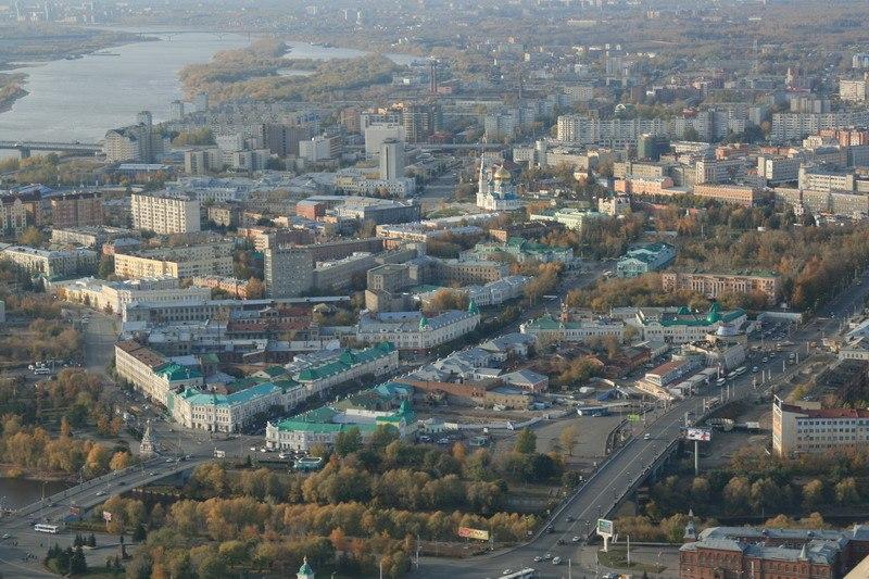 Фрагмент панорамы Омска.
