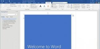 Скриншот фрагмента интерфейса Microsoft Word из пакета Office 2016.