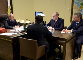 Владимир Путин встретился с новым губернатором Иркутской области Сергеем Левченко
