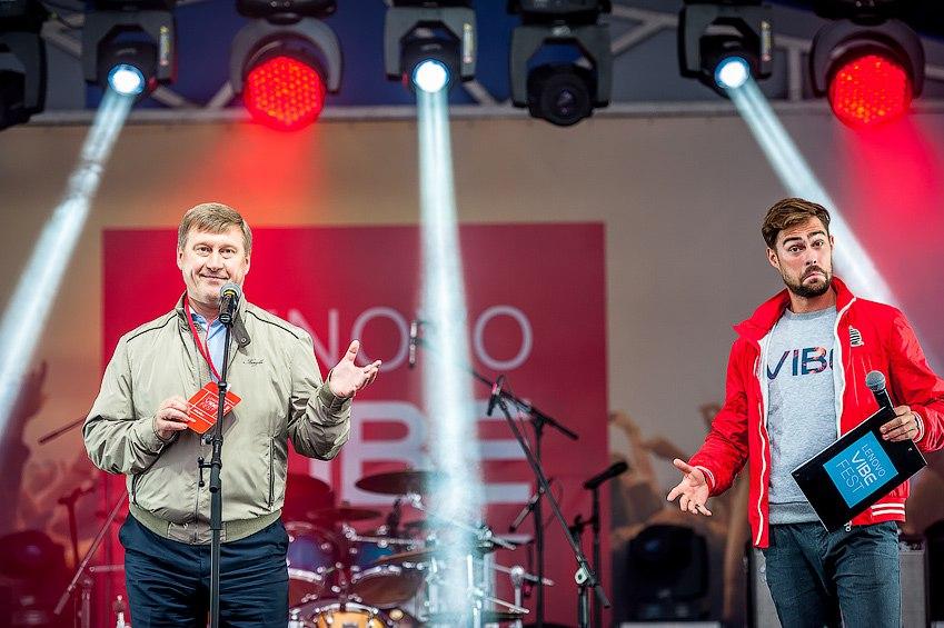 Мэр Новосибирска Анатолий Локоть на фестивале Lenovo