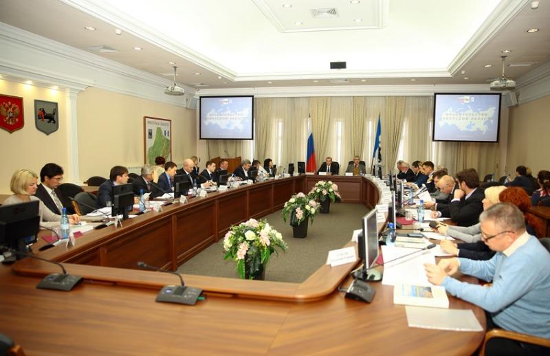 Заседание попечительского совета ИОО РГО проходило в здании иркутского областного правительства.