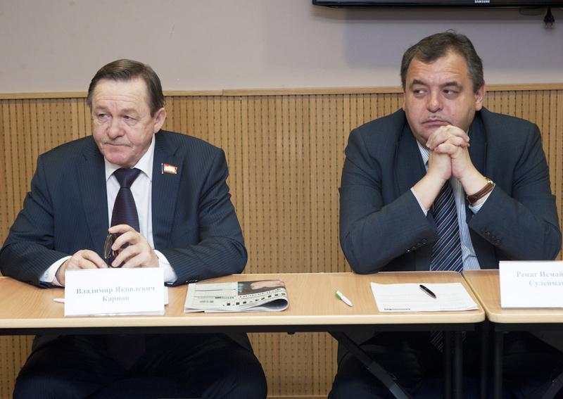 Владимир Карпов и Ренат Сулейманов (слева направо)