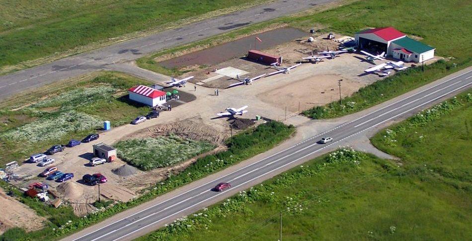 Первая очередь строительства аэродрома «Белокуриха-авиа» на базе заброшенного взлётного поля советских времён, уже позади.