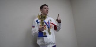 Сергей Клюев, первый новосибирский юниор-призёр Первенства Европы по боксу.
