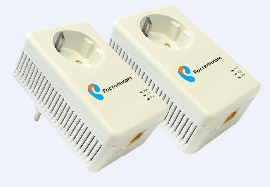 Брендированный PLC-адаптер «Ростелеком».