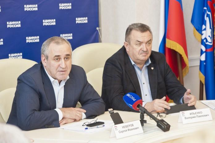 Сергей Неверов, Валерий Ильенко (слева направо)