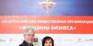 Бизнес-эксперт Владимир Кусакин и руководитель регионального отделения «Женщин бизнеса» Ирина Хапко.