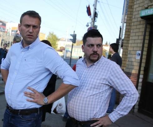 Алексей Навальный (слева) и Леонид Волков.