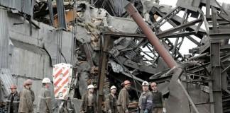 Шахта «Распадская» после взрыва в 2010 году