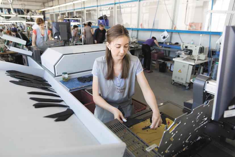 Автоматизированные швейные системы Orisol на фабрике «Обувь России» в городе Бердске Новосибирской области