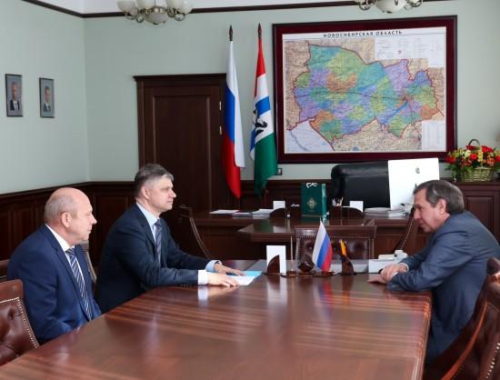 Губернатор Новосибирской области обсудил сотрудничество с руководством РЖД