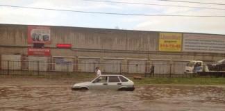 ливень в Новосибирске
