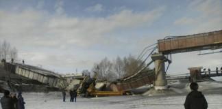Обрушение моста в Минусинске
