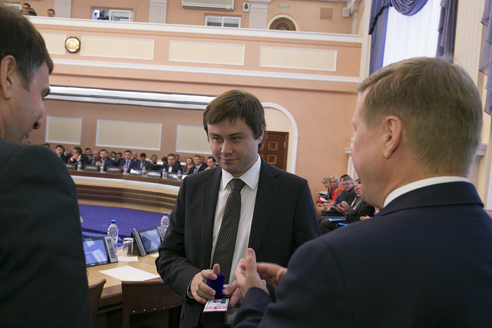 Владислав Люмин (в центре) Фото Михаила Перикова