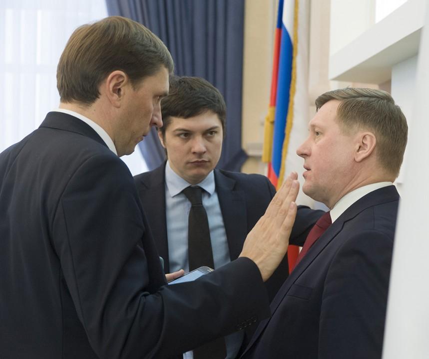 Виктор Игнатов, Артем Скатов и Анатолий Локоть (слева направо)