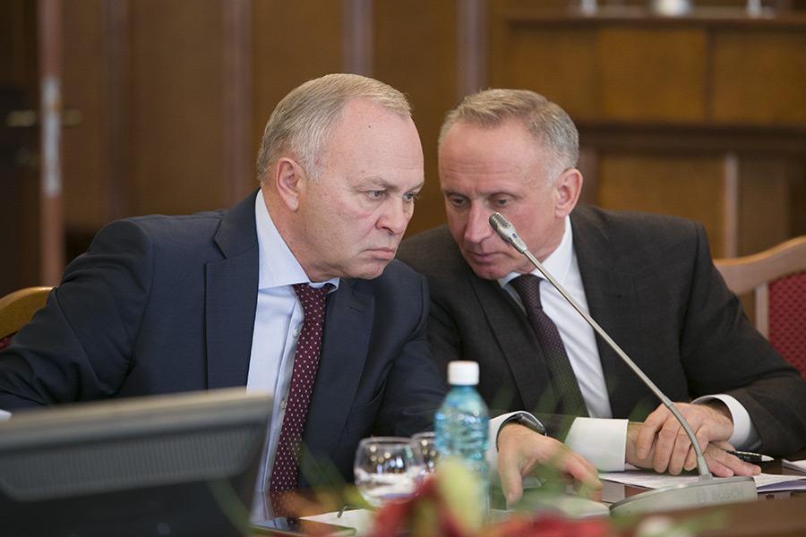 Первый вице-премьер областного правительства Владимир Знатков и первый вице-спикер областного парламента Андрей Панферов