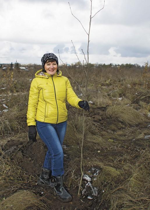 Работники Сибирского Антрацита вместе с местными жителями участвовали в высадке деревьев