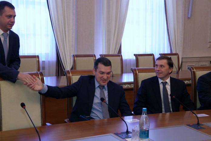 Андрей Каличенко, Максим Кудрявцев, Виктор Игнатов (слева направо) впервые избрались в Госдуму