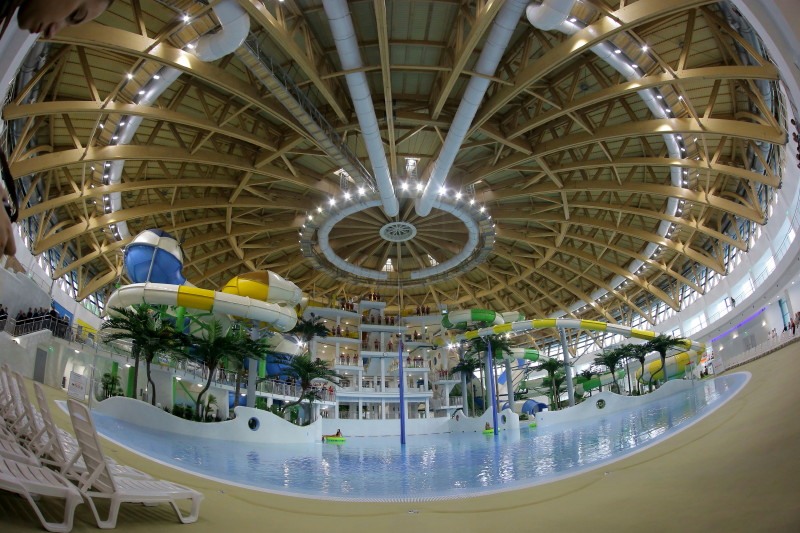 Наибольший аквапарк Российской Федерации официально открылся вНовосибирске