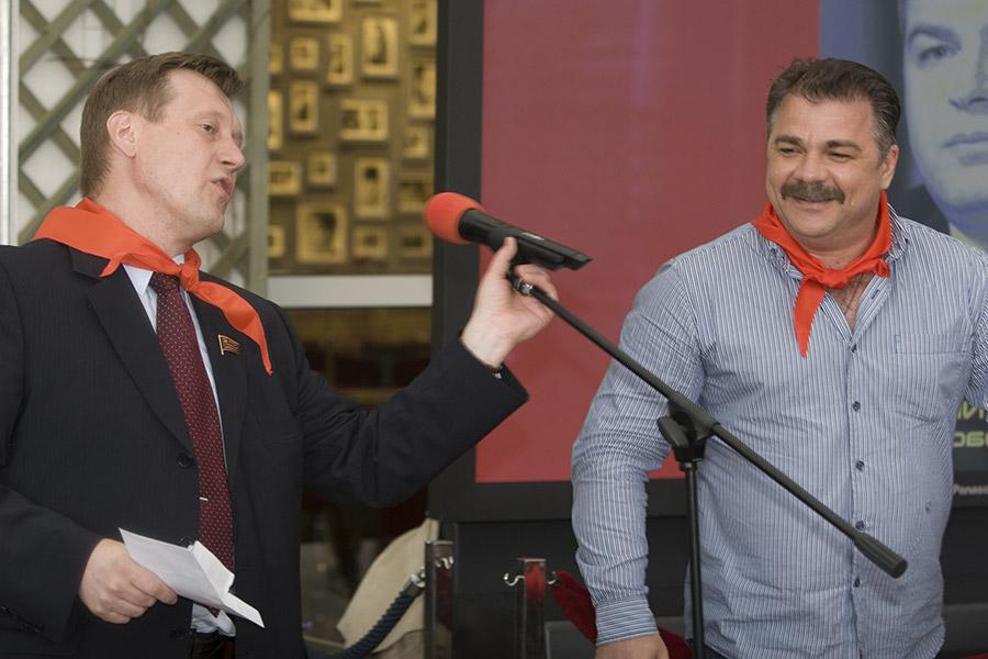 Анатолий Локоть и Валерий Науменко (слева направо)