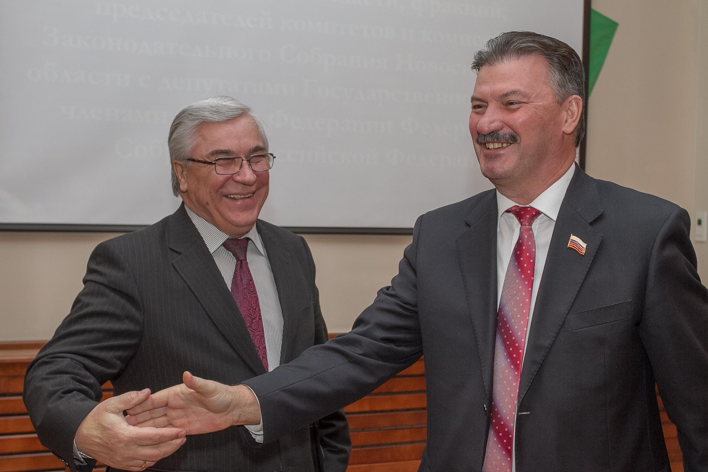 экс-член Совета Федерации от Новосибирской области Виктор Косоуров и депутат заксобрания Сергей Титков
