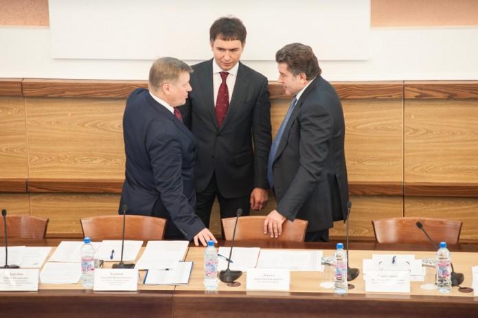 Анатолий Локоть, Дмитрий Асанцев, Андрей Шимкив слева направо)
